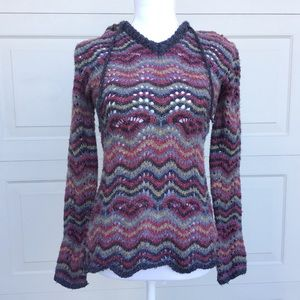 Royal Robbins Zig Zag Hooded Sweater Size XS